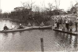 Kanoën op de ijsbaan